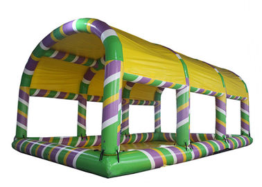 China Big Inflatable Swimming Pool With Tent , Airtight  0.6mm PVC Inflatable Pool distributor