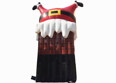China PVC Inflatable Christmas Decorations Santa Cartoon , Customized Merry Christmas Inflatable Cartoon distributor
