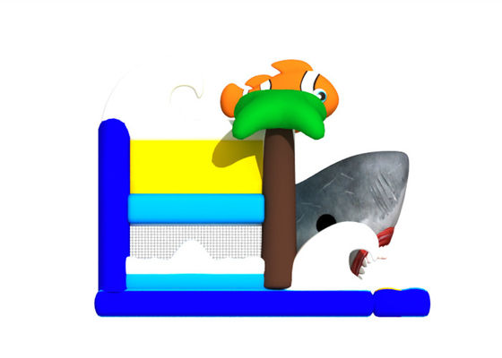 Interesting And Colorful Sea World Big Bounce House Customized , Digital Painting Huge Bounce House