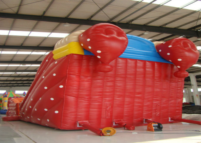 Big clown cartoon inflatable slide - inflatable long slide with arch