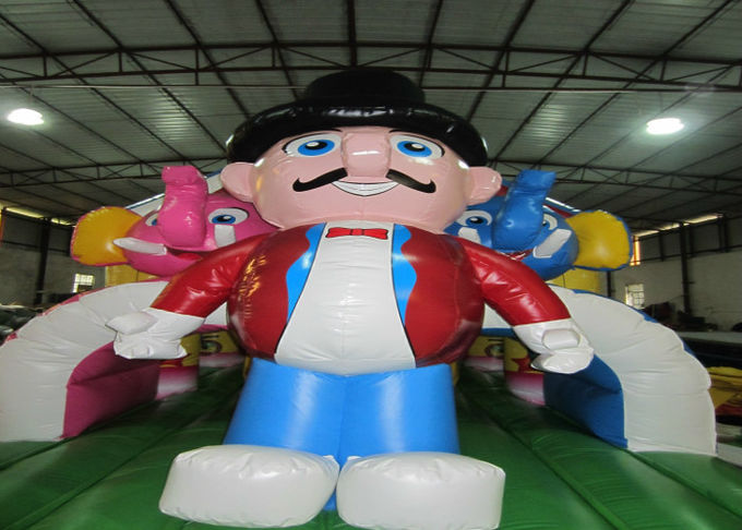 Circus inflatable obstacle courses inflatable elephant obstacle course funny clown inflatable obstacle course
