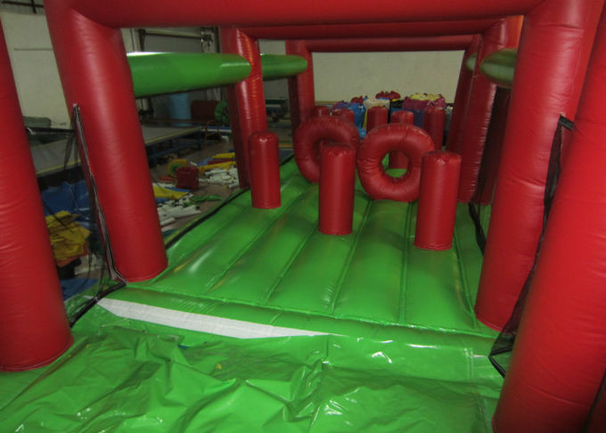 Long Monkey Theme Giant Inflatable Obstacle Courses 0.55mm PVC 17 X 4 X 5m