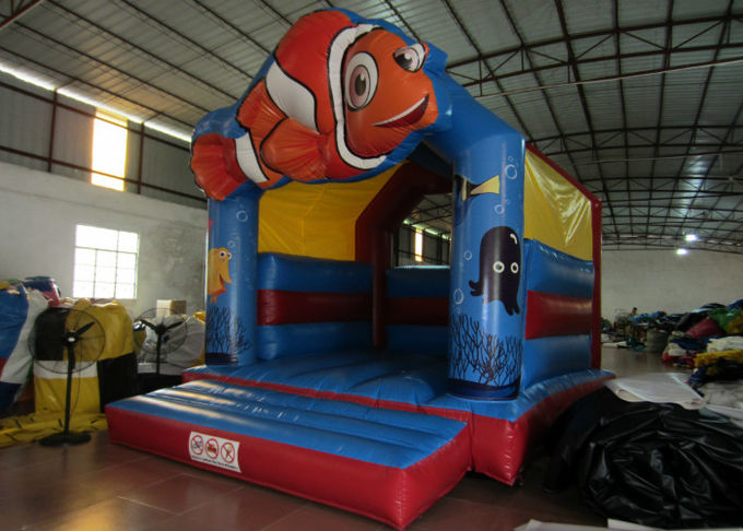 PVC inflatable bouncy reliable inflatable clown fish jumping durable inflatable jump house on sale