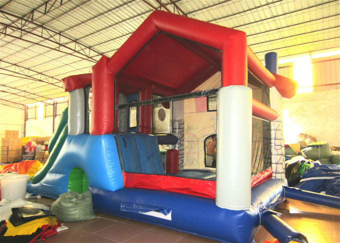 Big House Themed Inflatable Combo Kindergarten Inflatable Farm House Amusement Park