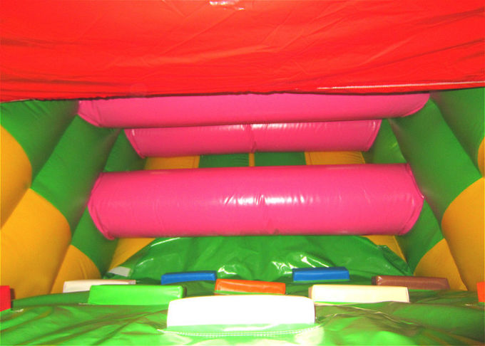 Inflatable Beach Bouncy Castle Assault Course , Big Party Funny Obstacle Course Jumpers