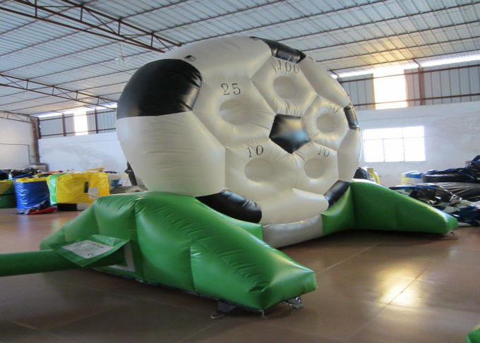High Durability Inflatable Football Games waterproof PVC inflatable football shooting games