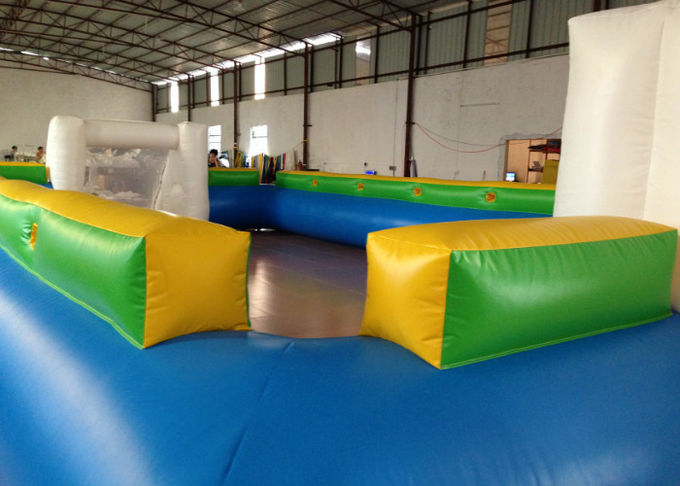 Waterproof PVC fabric Inflatable football Soccer Field Big Party Inflatable Soccer pitch for ball game