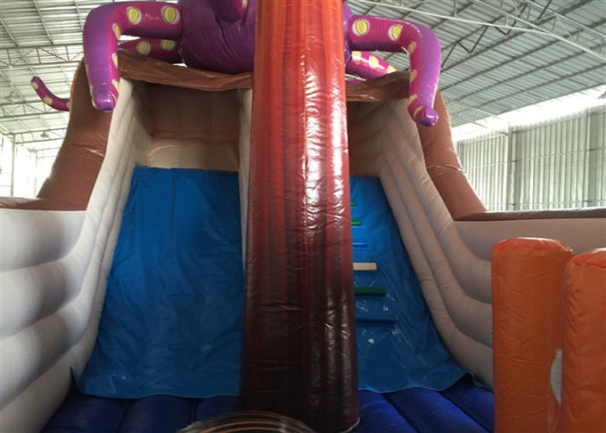 Attractive Pirate Ship Slide Inflatable , Kindergarten Baby Games Blow Up Pirate Ship