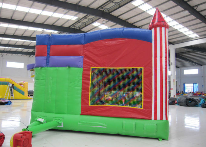 Colorful Combo Games Inflatable Jump House 0.55mm Pvc Tarpaulin Fireproof Nontoxic
