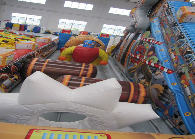 Top Inflatable Robot  City Bounce Jumpers , Commercial Fun Bounce House With Big Slide