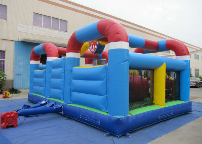 Outdoor Police Station Design Inflatable Fun City Waterproof For Amusement Park Double jumping area inflatable jumping