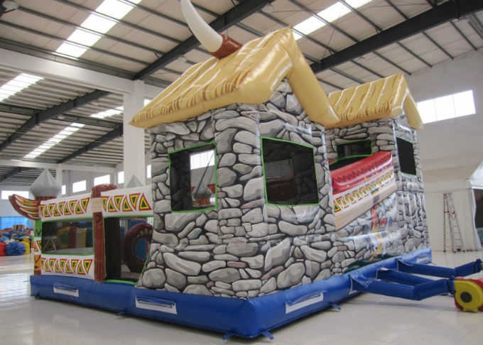 Indoor Ancient Indian Inflatable Fun City 8 X 6 X 5m Nontoxic Enviroment - Friendly