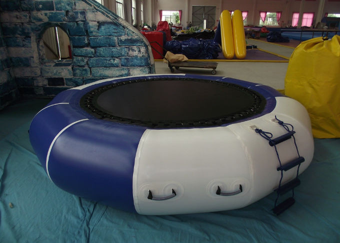 Lake Inflatable Water Games Inflatable Water Trampoline Dia3m 0.9mm PVC Trapaulin