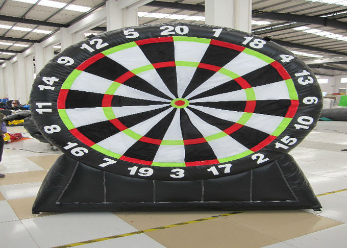 Commercial Inflatable Sports Games Inflatable Football Dart Board 0.55mm Pvc Tarpaulin