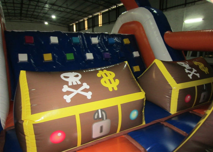 Inflatable Pirate Obstacle Course Jump House , Games Obstacle Course Bouncer 8 X 4 X 3.5m