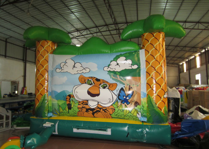 Commercial Sarfari Como Inflatable Jump House 5 X 54m Safe Nontoxic Fire Resistance