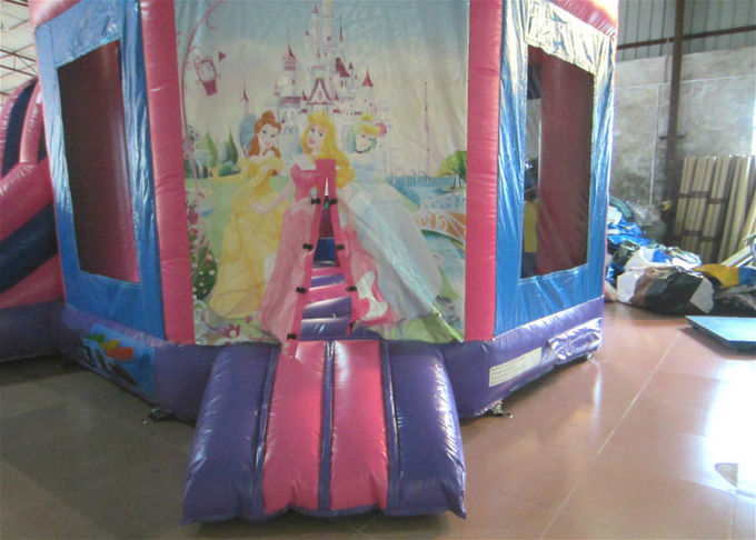 Attractive Princess Bouncy Castle 5.18 X 4.75 X 4.88m , Blow Up Jump House Double Stitching